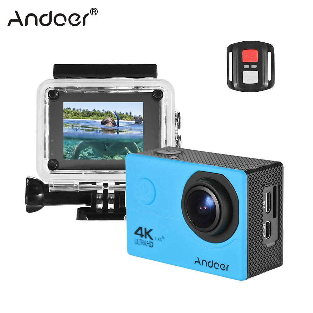 Sport & Action-videokamera Andoer An200 4 Karat Wifi Action Kamera 16mp 1080 P Volle Hd 4x Zoom 2 lcd 170 Weitwinkel Wasserdicht 30 Mt Sport Action Kamera ZuverläSsige Leistung