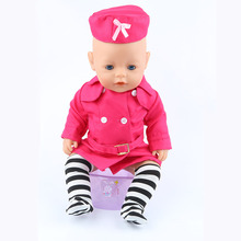 The new 2016doll clothes Wear fit 43cm Baby Born zapf Children best Birthday Gift(only sell clothes)m03 red doll dress clothes wear fit 43cm baby born zapf children best birthday gift only sell clothes