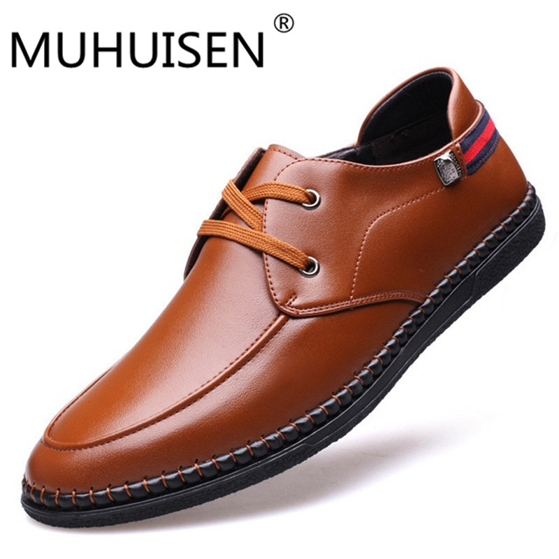 MUHUISEN Top quality men flats shoes genuine leather men shoes handmade loafers Moccasins,plus size driving shoes zapatos hombre high quality genuine leather men shoes lace up casual shoes handmade driving shoes flats loafers for men oxfords shoes