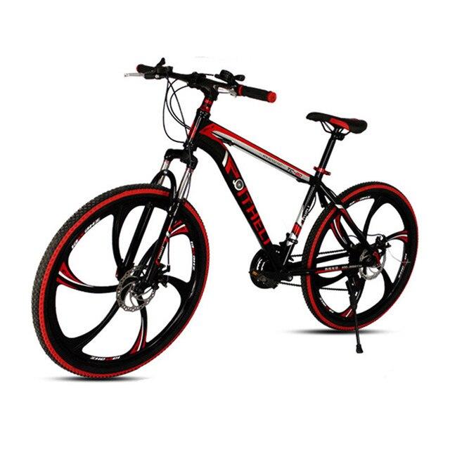Cheap Top Quality 21 Speed 26 Inch Mountain Bike High Carbon Steel Frame MTB Bicycle Integrated 6 Spoke Wheel Bicicleta Mountain Bike