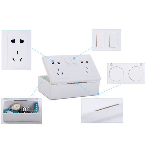 New Arrival Unexpected Anti-theft Fake Secret Wall Plug Socket Security Safe Money Jewel Box Hides Valuables Storage Case BS ...