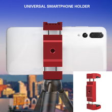 New Universal Metal Smartphone Clamp with Clip Holder Bracket Tripod Mobile Phone Holders & Stands for iPhone X 7 8 / 7 Plus цена