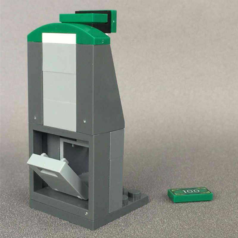 Dubbi diy строительный блок сценария здания ATM наличные машины совместимы с Legos обучающая игрушка подарок для детей