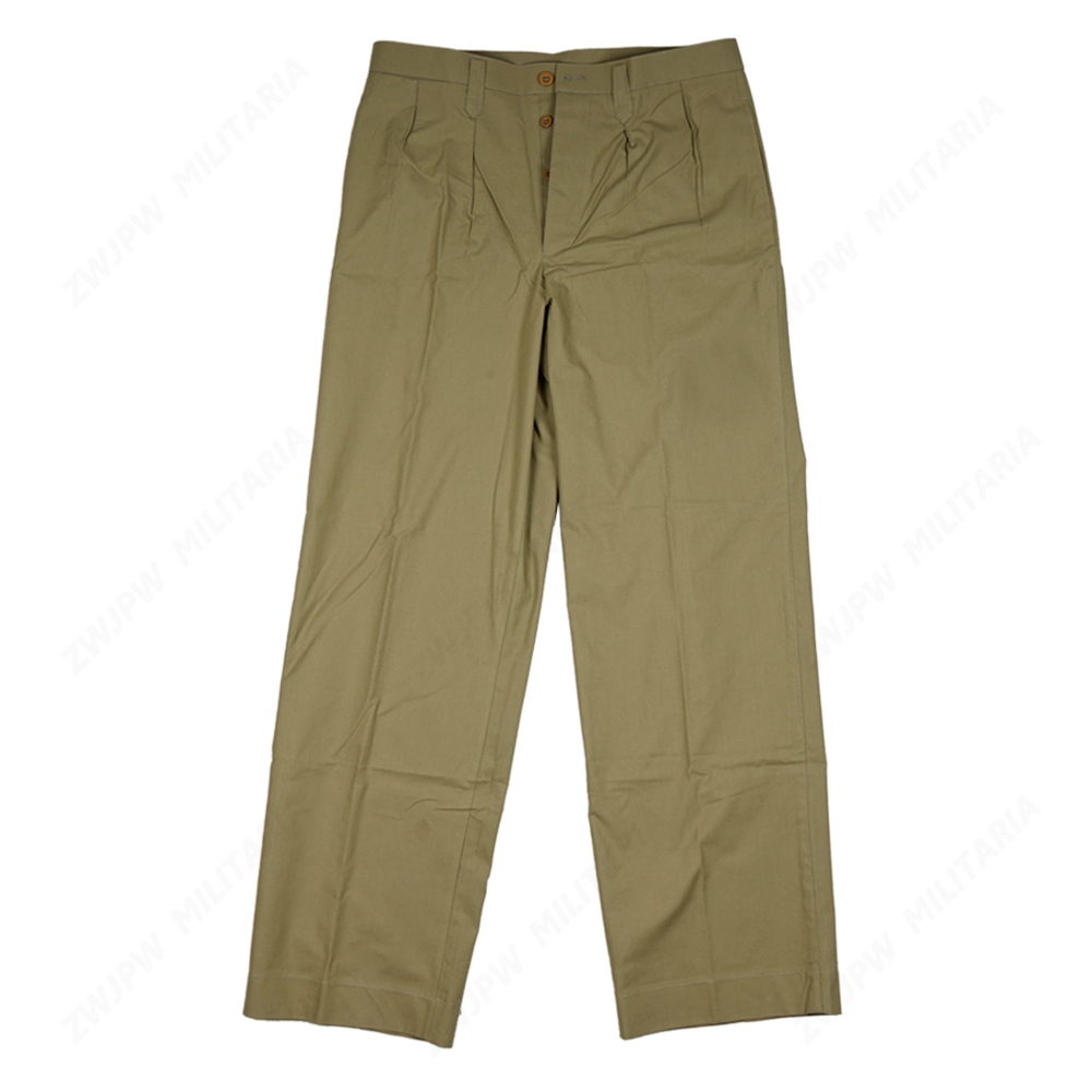 WW2 CHINA KMT MEN AMERICAN STYLE Military Officers Grass Green Trousers Reproduction Film Export Pure Cotton