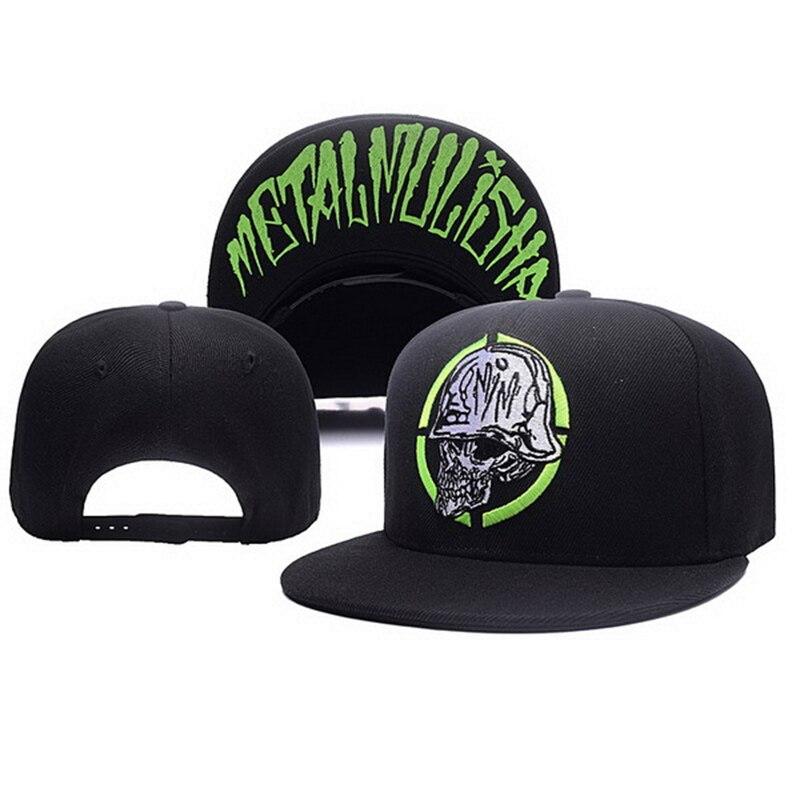 Unisex Letter Embroidery Baseball Cap Women Outdoor Sports Sun Flat Hat Men Fashion Metal Mulisha Hip Hop Snapback Caps CP0123 3