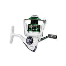 1000-7000 Collection 5.2:1 Metallic Spinning Fishing Reel Max Drag 8KG Carp Fishing Spinning Reel Fly Wheel for Recent/Salt Water White