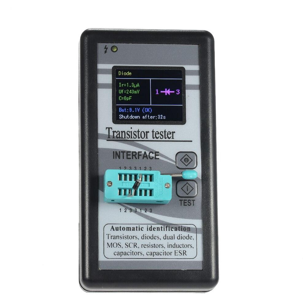 Multi-fonctionnelle Transistor Testeur 128 * 160TFT Couleur Affichage Diode Thyristor Capacité Résistance Inductance MOSFET ESR LCR Mètre
