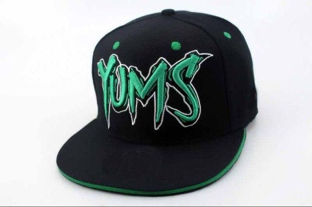 daa442858e382 Cheap YUMS Snapback baseball hats At Cheap Pricing Online black green top  quality sports caps freeshipping !