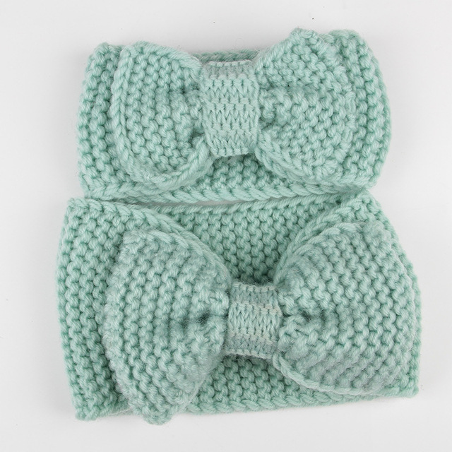 Mommy and me headwarmer set