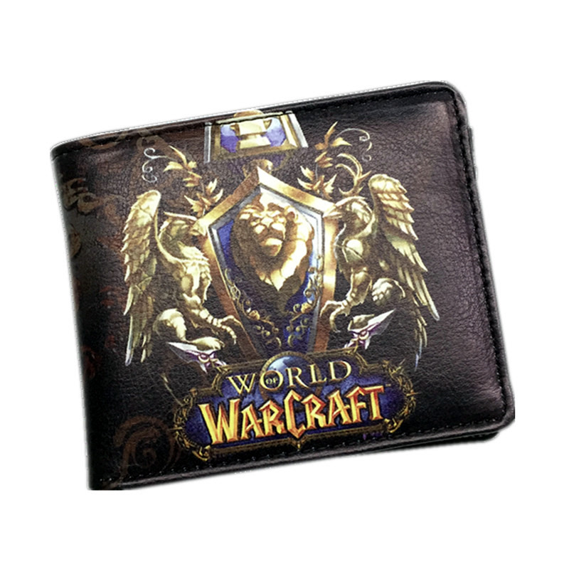 Newest The World of Warcraft Wallets Leather Slim Small Wallet WOW Alliance Horde Flag Purse Cool Movie Game Wallet For Men цена