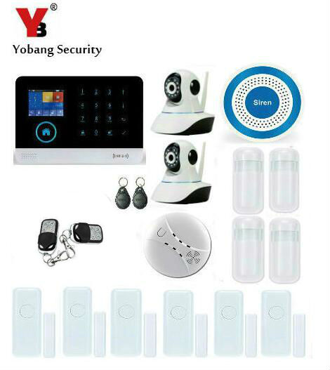 YoBang Security 3G WCDMA/CDMA WIFI GPRS Home Intruder Security Alert System With WIFI IP Camera Smoke Detector IOS Android APP