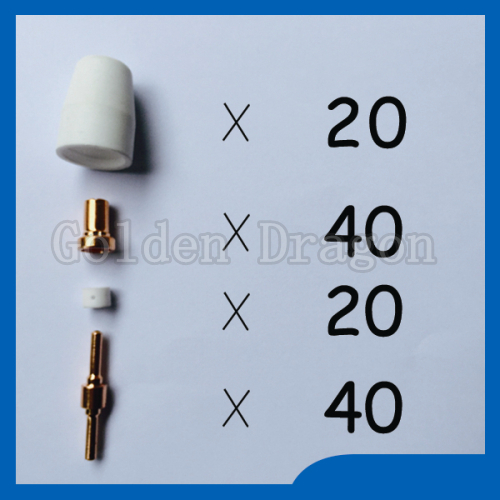 Free shipping PT-31 LG-40 Plasma Cutter Cutting Torch Consumables KIT Extended Plasma Nozzles TIPS Fit Cut-50 50D CT-312 esab l tec linde pt 31xl plasma cutting cutter torch consumables kit plasma nozzles tips