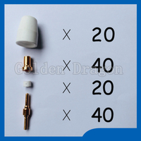 Free Shipping PT 31 LG 40 Plasma Cutter Cutting Torch Consumables KIT Extended Plasma Nozzles TIPS