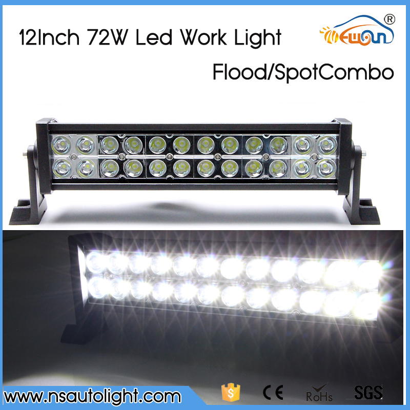 12 INCH 72W CREE  led chips LED LIGHT BAR CAR-STYLING OFF ROAD BAR FOR TRACTOR TRUCK BOAT MILITARY EQUIPMENT LED BAR LIGHT