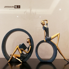 retro decoration Home Furnishing sitting circle girl living room decoration gift accessories abstract characters