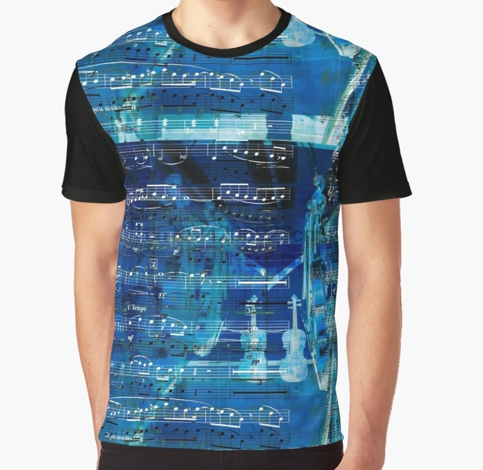 39bb1d70d All Over Print 3D Women T Shirt Men Funny tshirt Violins and music notes  Graphic T-Shirt
