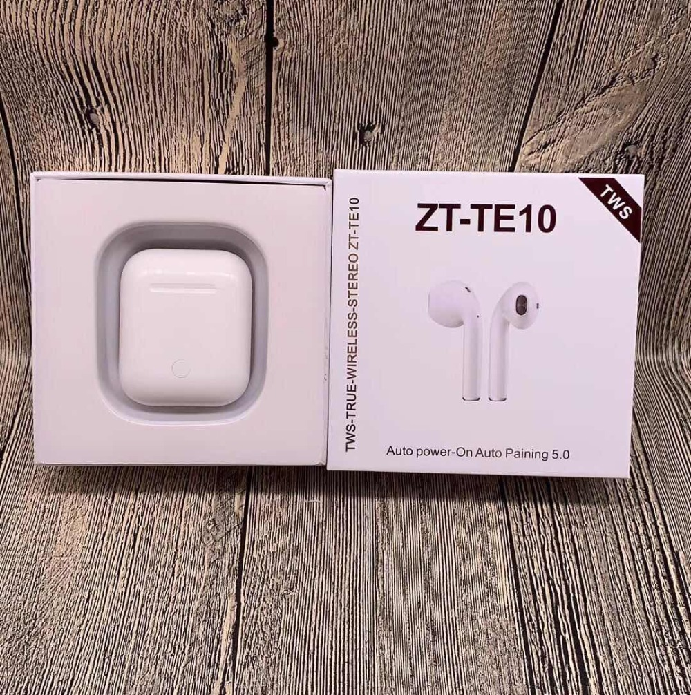 ZT TE10 TWS Bluetooth 5.0 Double Earphone Headset Works Touch Voice Control Support any single for IOS/Android 20PCS Free DHL