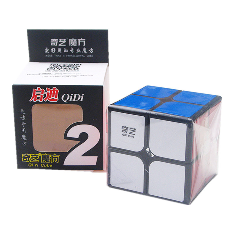 Qiyi Cube 2X2 Magic Cube 2 By 2 Cube 51mm Speed Pocket Sticker Puzzle Cube Professional Educational Toys For Children