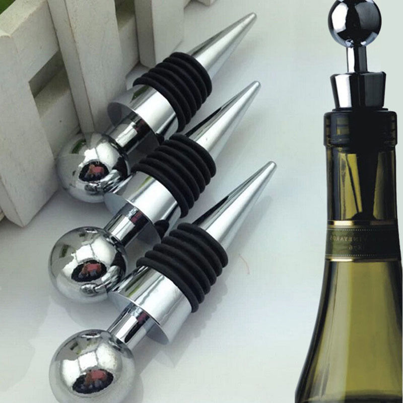 Wine Stoppers Bar Accessories Reusable Vacuum Sealed Wine Stopper Cork Wine Bottle Stopper For Kitchen Gadget Bar Tool