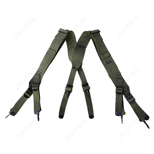 Reproduction WW2 Korean War US M1945 Combat Field Pack Suspenders Shoulder Straps US/4526