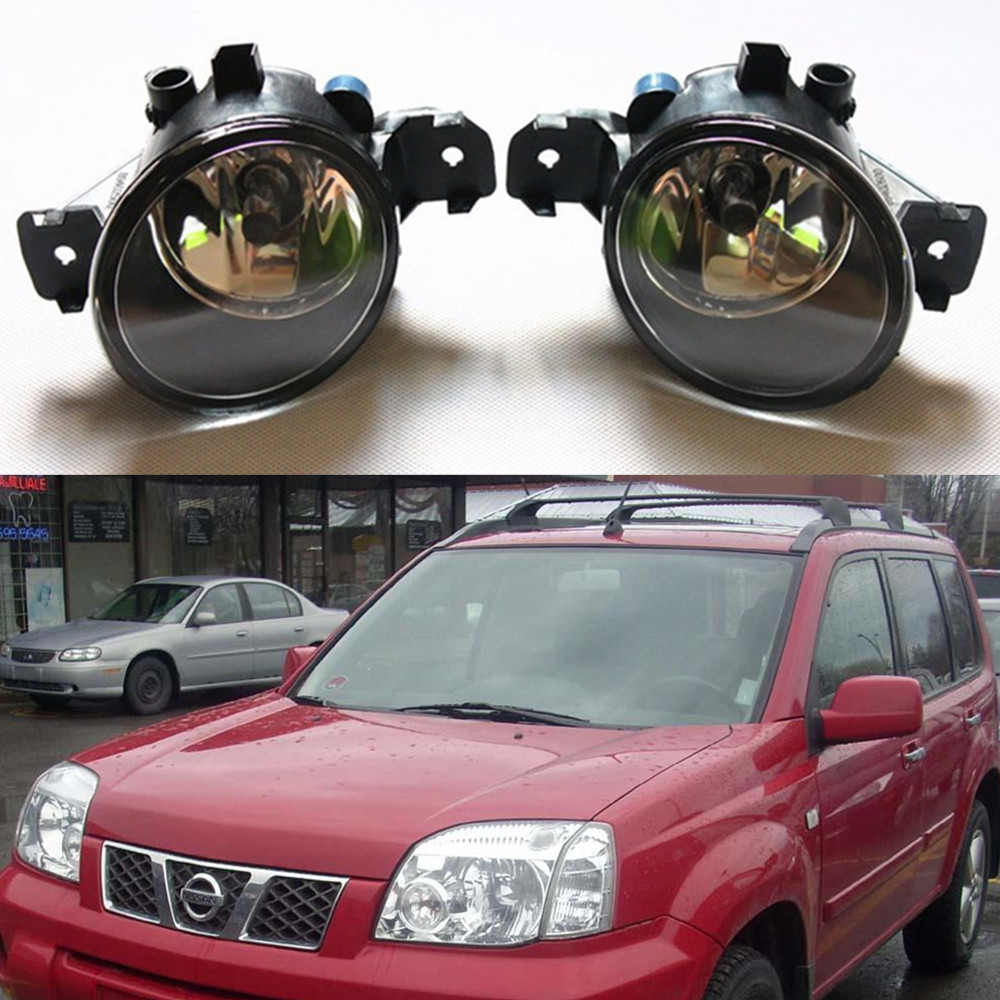 For nissan X-TRAIL (T30) 2001-2006 Car styling Fog Lamps Front bumper halogen Lights 1set for nissan x trail t30 2001 2006 car styling led light emitting diodes drl fog lamps