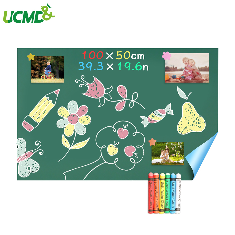 100 X 50 Cm Self-adhesive Magnetic Chalkboard Blackboard Hold Magnets Home Decor Painting Writing Message Board School Supplies