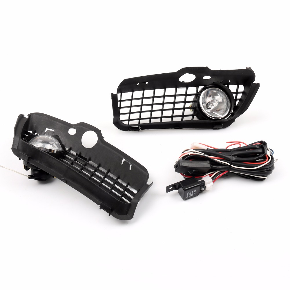 Areyourshop Car Bumper Grille Grill With Driving Fog Lamp Light For VW Golf MK3 1992-1997 Fashion Styling Grill Covers