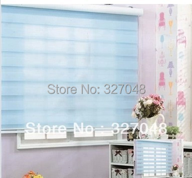 FREE SHIPPING Popular Zebra Blinds/korean Curtains/double Layer Roller  Blinds/curtain Fabric Curtain Window Curtain