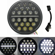 7″ Round Daymaker Generation 2 LED Headlight 7″ LED Head Light Bracket 4.5″ Auxiliary Spot Lamps For Harley Motorcycle