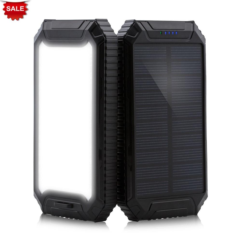 Chargeur solaire de batterie externe PowerGreen 10000 mAh double Ports USB Mini panneau solaire piles pratiques pour téléphones en vente