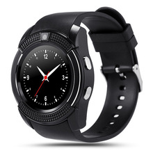 V8 Smart Uhr Round MTK6261D Smartwatch mit Kamera SIM TFCard Smart Health Monitor für ios Android Telefon Intelligente Elektronik