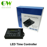 20A DC12 24V 5 Channel Output Computer Programmable Led Time Controller TC420 Assemble With USB Cable