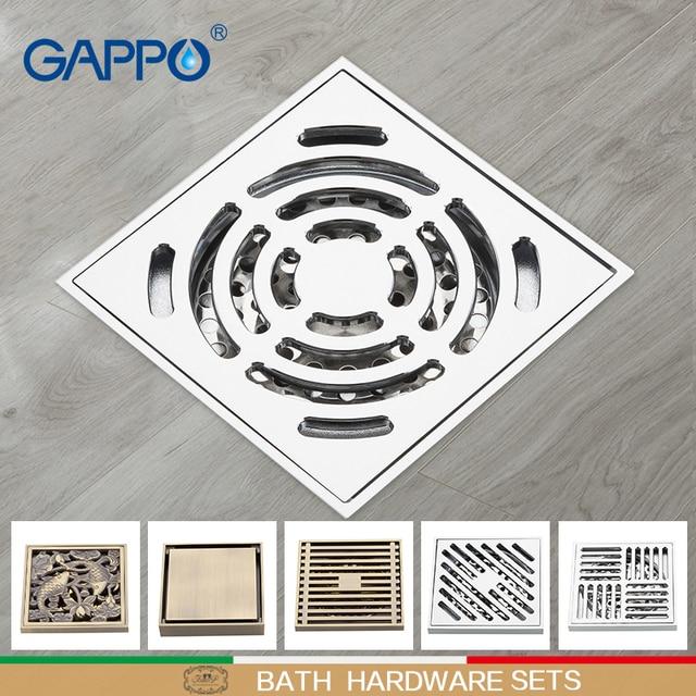 GAPPO Drains Odor Proof Shower Siphon Floor Drain Siphon for Sink Strainer shower floor drain stoppers brass bath Accessories