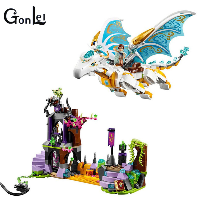 10550 Buidling Blocks Elves 41179 White Dragon The Elf Series Of Long After The Rescue Cction Blocks Girls Assembled Block lepin 30017 505pcs elves series the aira