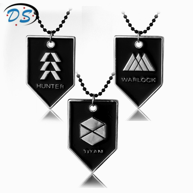 Movie Destiny WARLOCK, TITAN, HUNTER Beads Chain Necklace Division Dog Tag Pendant Necklace