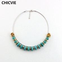 Chicvie ожерелье для женщин длинные ожерелья и подвески золотого