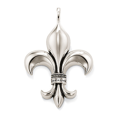 Big fleur de lis silver pendant trendy necklace pendant wholesale big fleur de lis silver pendant trendy necklace pendant wholesale jewelry free shipping aloadofball