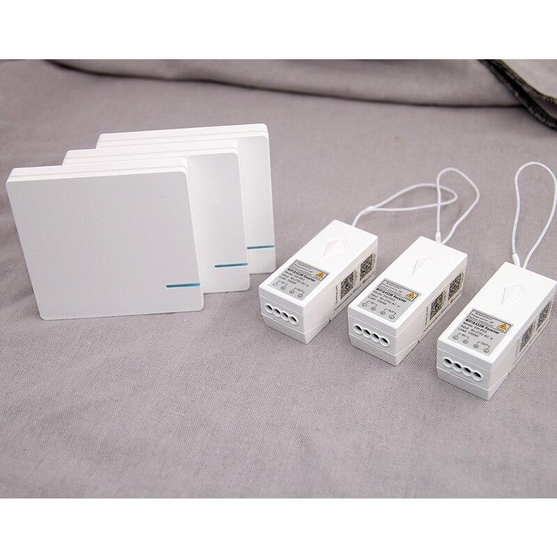 Lampe sans fil WIFI commutateur télécommande étanche Smart Home APP contrôle mur lumière interrupteur RF 110 V 220 V ampoule LED ventilateur