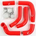 Motocicleta roja Silicone Radiator Hose Kit para Honda CRF250 CR250X 2004-2009 nueva