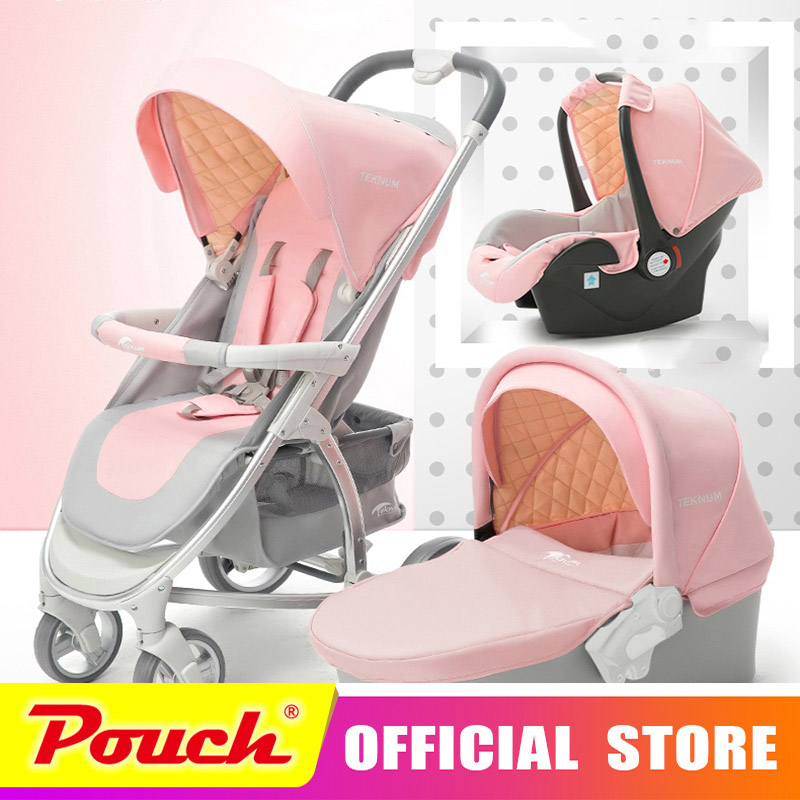 2018 new teknum high landscape 2 and 1 baby stroller can sit reclining 3 and 1 portable baby stroller high end Baby stroller stroller 1 baby