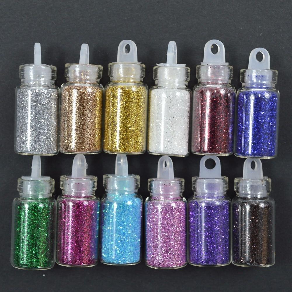 12 Farben Shinny Nagel Glitter Pulver 3d Acryl Gel Polish Flakes Nagel Pailletten Designs Dekoration Für Nagel Decor Staub Tipps Zu Verkaufen Schönheit & Gesundheit