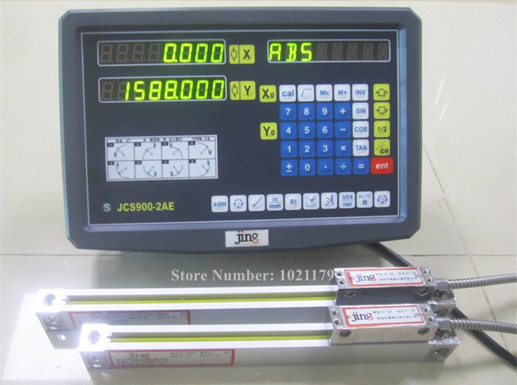 New 2 Axis Digital Readout with High Precision Linear Scale / Linear Encoder/ Linear Ruler For Milling Lathe Machine free shipping high precision easson gs11 linear wire encoder 850mm 1micron optical linear scale for milling machine cnc