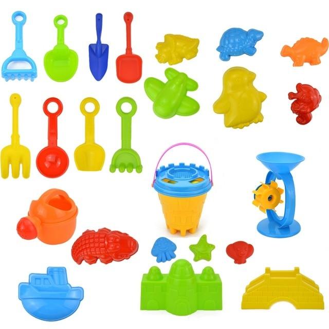 25 stuks Hoge Kwaliteit Kinderen Outdoor Strand Zand Speelgoed Emmer Schop Strand Spel Kid Strand Speelgoed Set