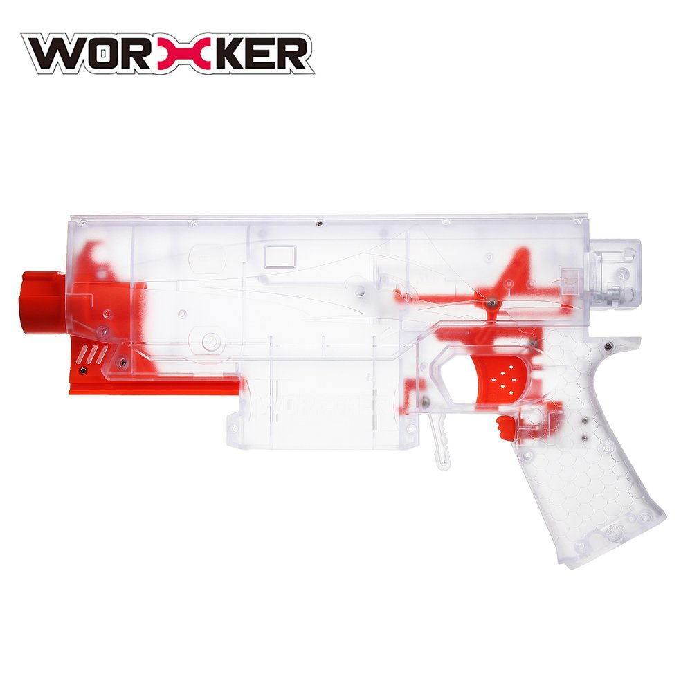 WORKER Transparent Shell Blaster Body DIY Parts For Nerf Gun Modification DIY Set Kids Toy Guns Accessories for Swordfish worker transparent shell blaster body diy parts for nerf gun modification diy set toy gun accessories for swordfish