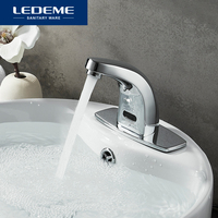 LEDEME Bathroom Basin Faucet Mixer Basin Sensor Taps Water Automatic Infrared Sensor Faucet Touchless Basin Mixer