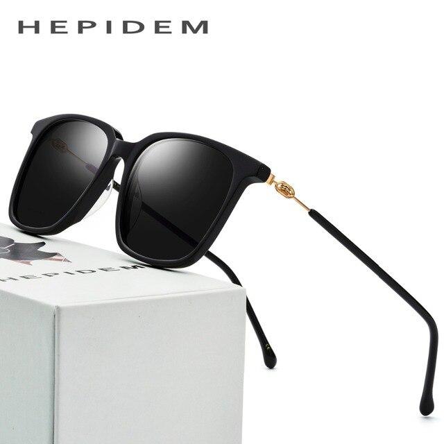 d20068d1e38 Acetate Sunglasses Men Polarized Brand Designer 2018 New Fashion d Squared  Mirror Korean Sun Glasses for Women Screwless Eyewear