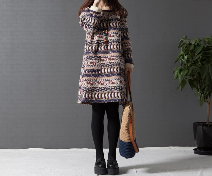 Vintage Long Sleeve Quilted dress