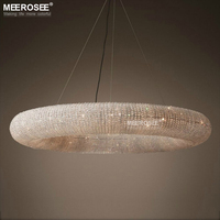 Luxus Kristall Anhänger Leuchte Große Leuchten Hängen Beleuchtung für Restaurant Hotel Projekt Kristall Lampe Lamparas-in Pendelleuchten aus Licht & Beleuchtung bei