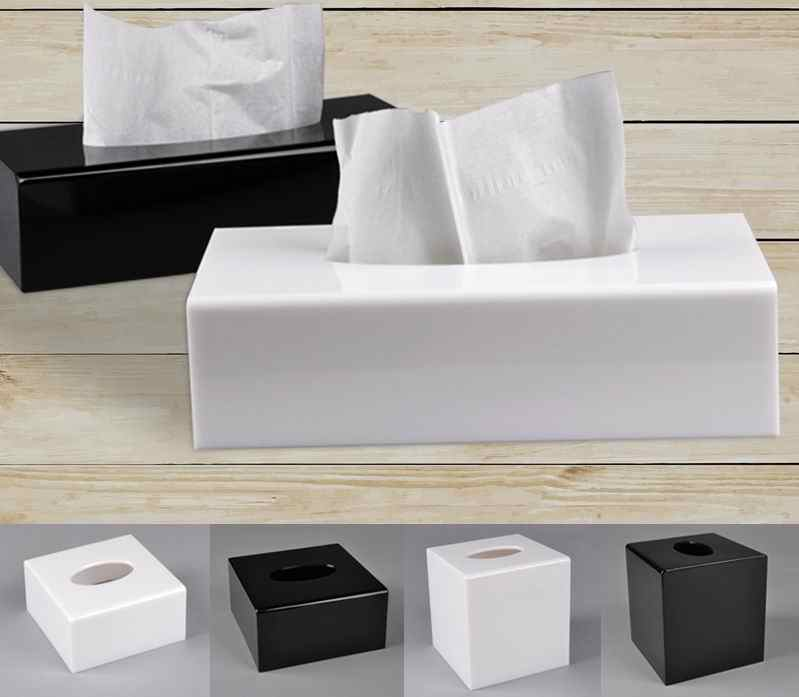 Modern Acrylic Napkin Holder Box Tissue Holder Roll Paper  Wipes Case Tissue Dispenser Kitchen Boxes for Decoration Trump 6ZJ047