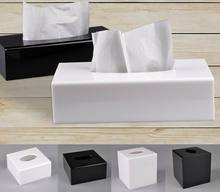 Modern Acrylic Napkin Holder Box Tissue Roll Paper  Wipes Case Dispenser Kitchen Boxes for Decoration Trump 6ZJ047